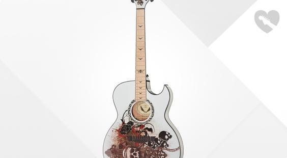 Full preview of Dean Guitars Exhibition Resurrection A/E Ap