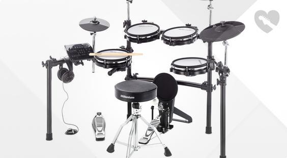 Full preview of Millenium MPS-750 E-Drum Mesh Set Bundle