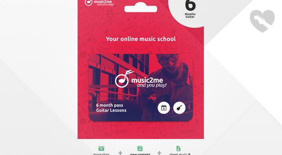 Full preview of music2me Guitar Subscription 6 Months