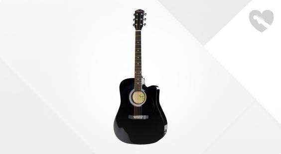 Full preview of Fender Squier SA-105CE BK