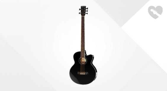 Full preview of Harley Benton B-35BK Acoustic Bass S Deko