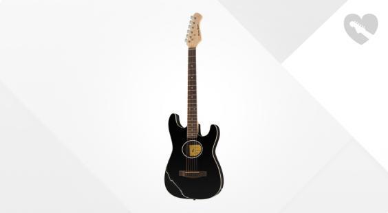 Full preview of Harley Benton ST-Acoustic Black B-Stock