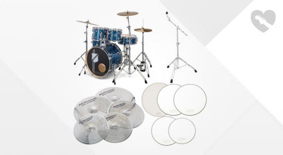 Full preview of Millenium Hybrid Practice Drum Set BL