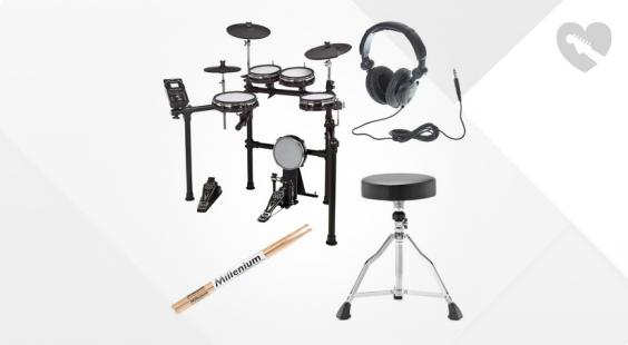 Full preview of Millenium MPS-450 E-Drum Set Bundle