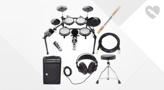 Full preview of Millenium MPS-750 E-Drum Complete Bundle