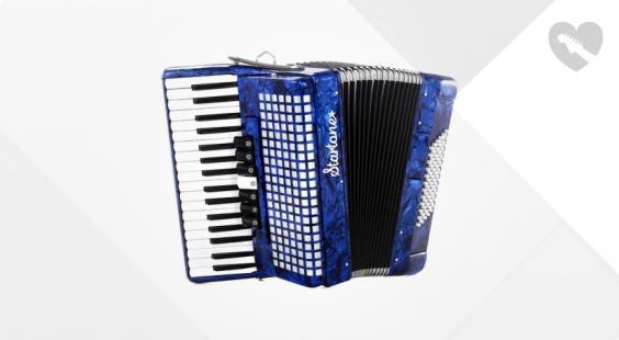 Full preview of Startone Piano Accordion 72 Blue
