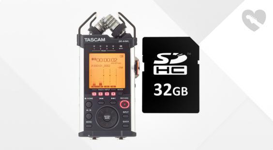 Full preview of Tascam DR-44WL Card Bundle