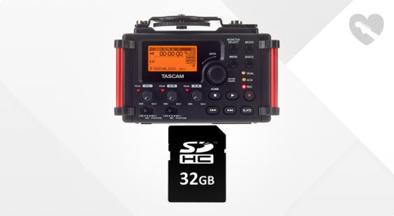 Full preview of Tascam DR-60D MkII Card Bundle