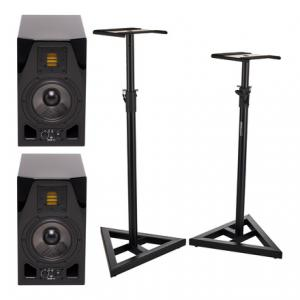 Is Adam A5X Glossy Black Stand Bundle a good match for you?