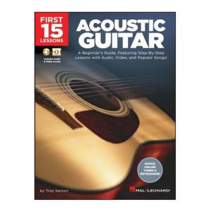 """Take the """"IS IT GOOD FOR ME"""" test for """"Hal Leonard 15 Lessons - Acoustic Guitar"""", read the reviews and join the community!"""