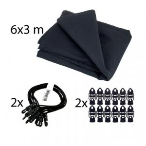Is Stairville Euro Molton Set Black 6x3m a good match for you?